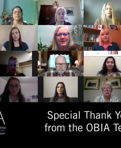 Special Thank You from the OBIA Team