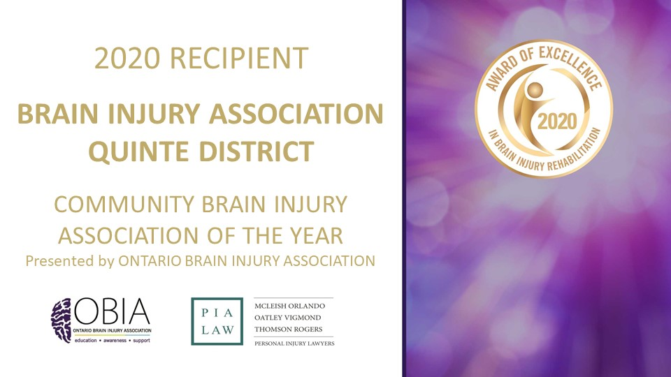 Award of Excellence 2020 - Community Brain Injury Association of the Year