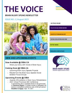 Issue No 2 of The Voice Brain Injury Speaks Newsletter