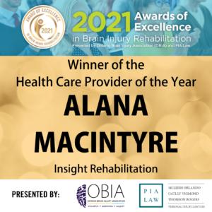 Health Care Provider of the Year - Alana MacIntyre